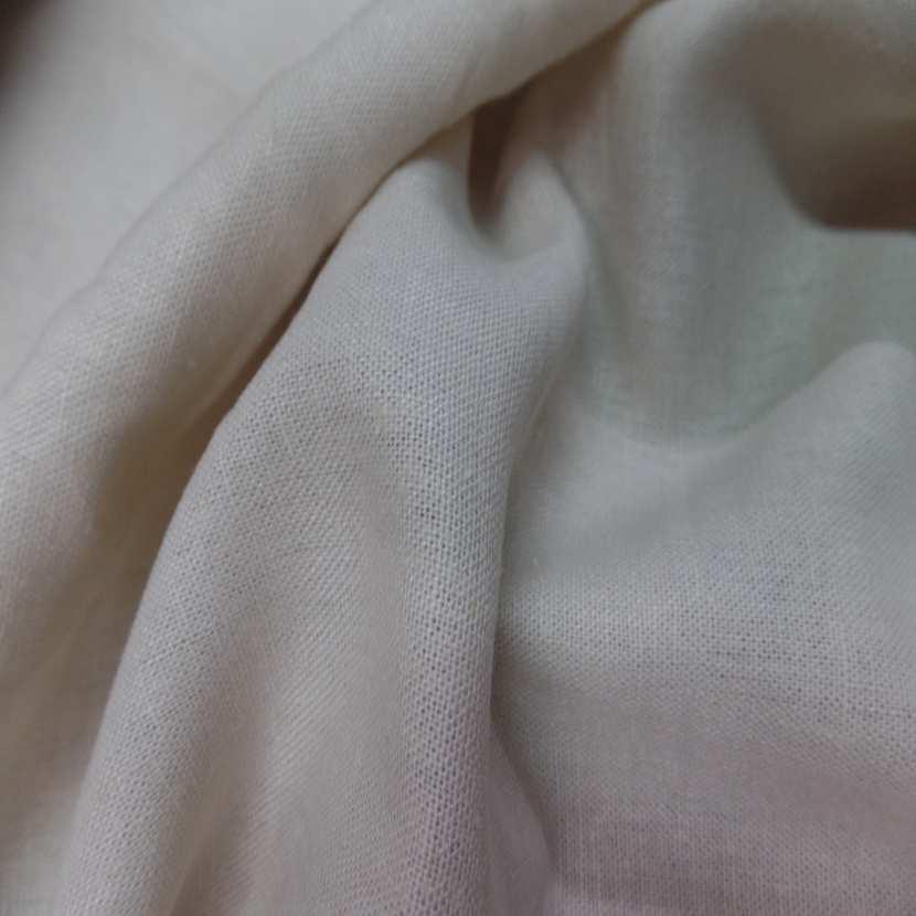 Lin coton blanc casse beige tres clair4