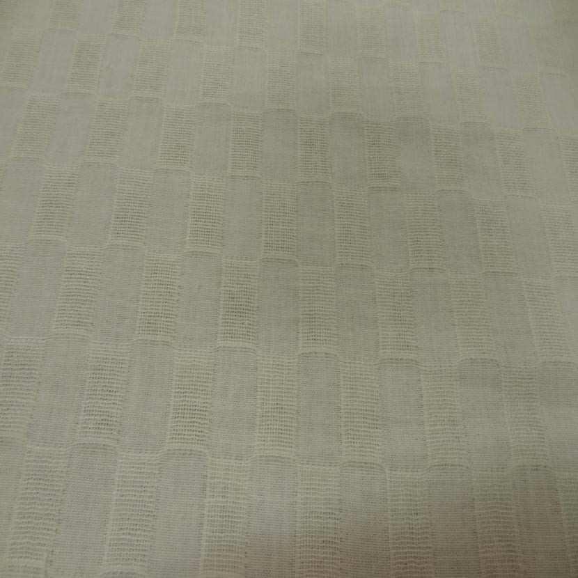 Lin coton faconne rectangle brode couleur beurre4