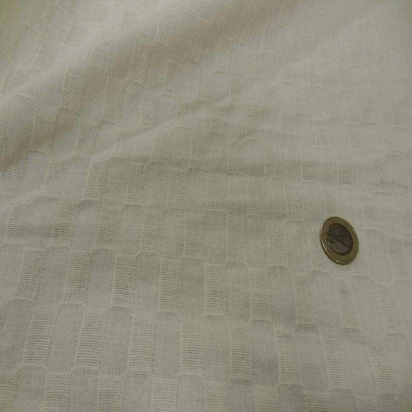 Lin coton faconne rectangle brode couleur beurre9