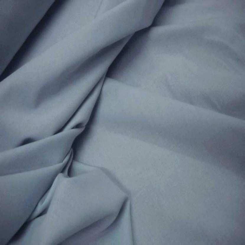 Lin coton uni gris bleu 7