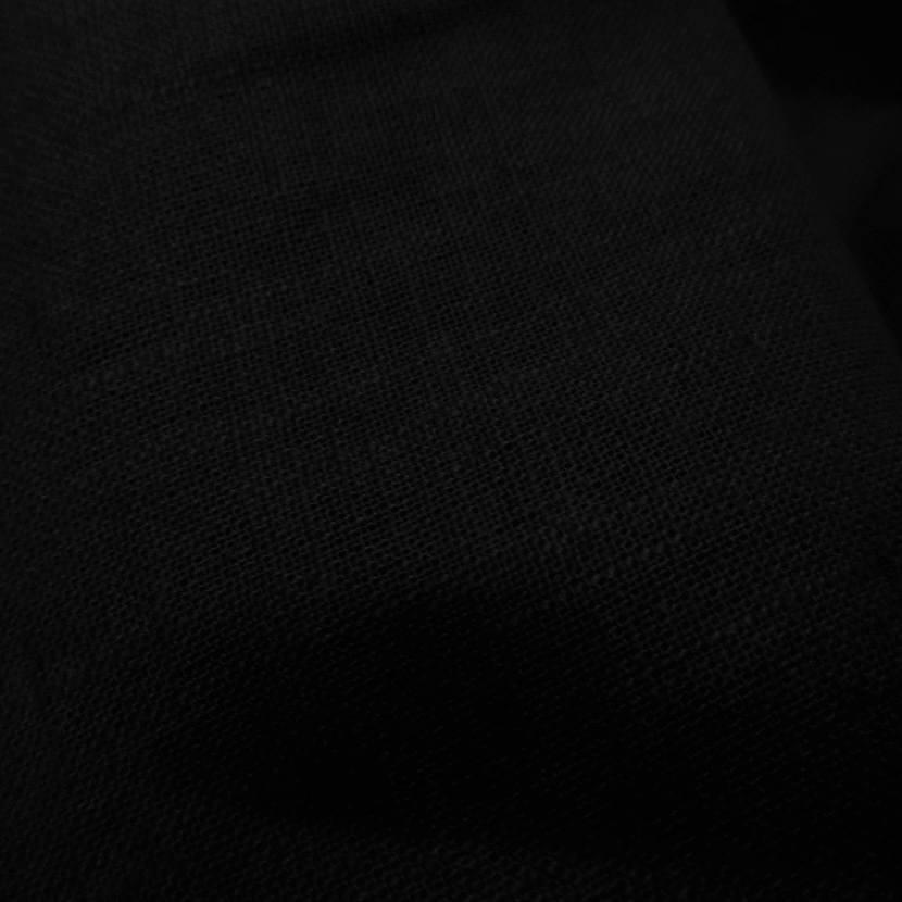 vente de tissu lin noir 100% 240gr m²