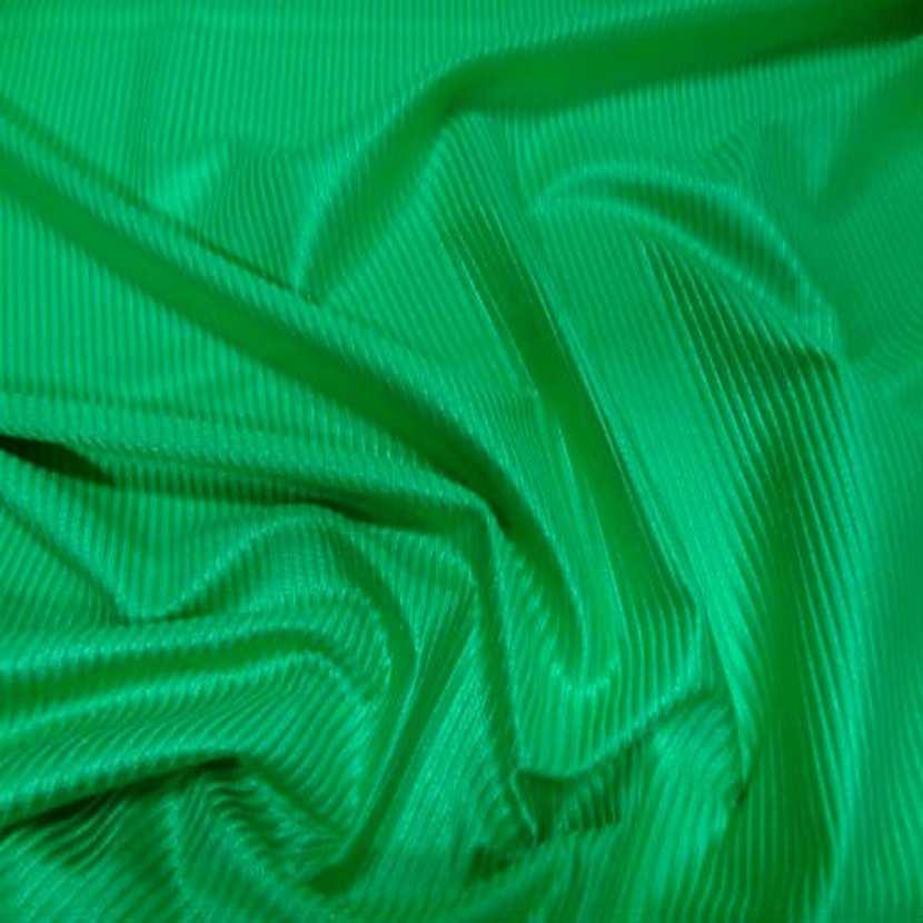 Lycra a cotes vert prairie satine1