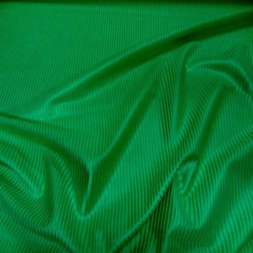 Lycra a cotes vert prairie satine7