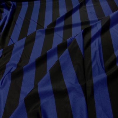 Lycra a grosse bandes bleu et noir