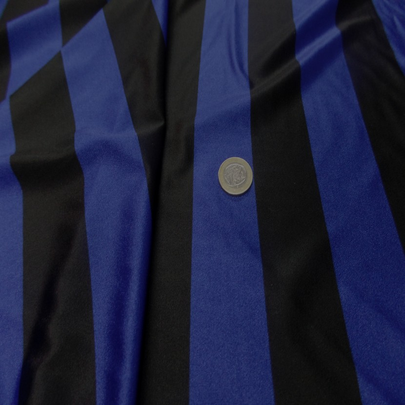 Lycra a grosse bandes bleu et noir6