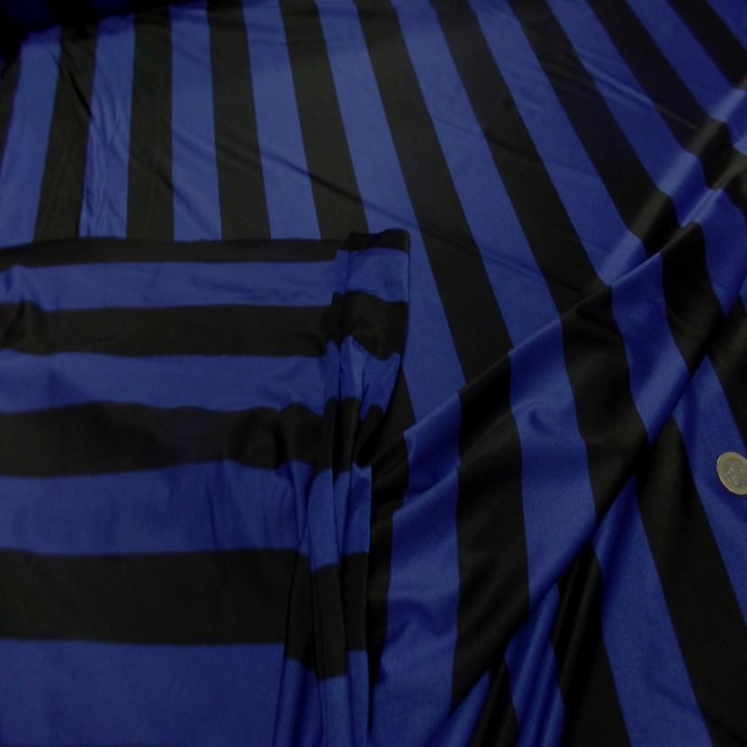 Lycra a grosse bandes bleu et noir9