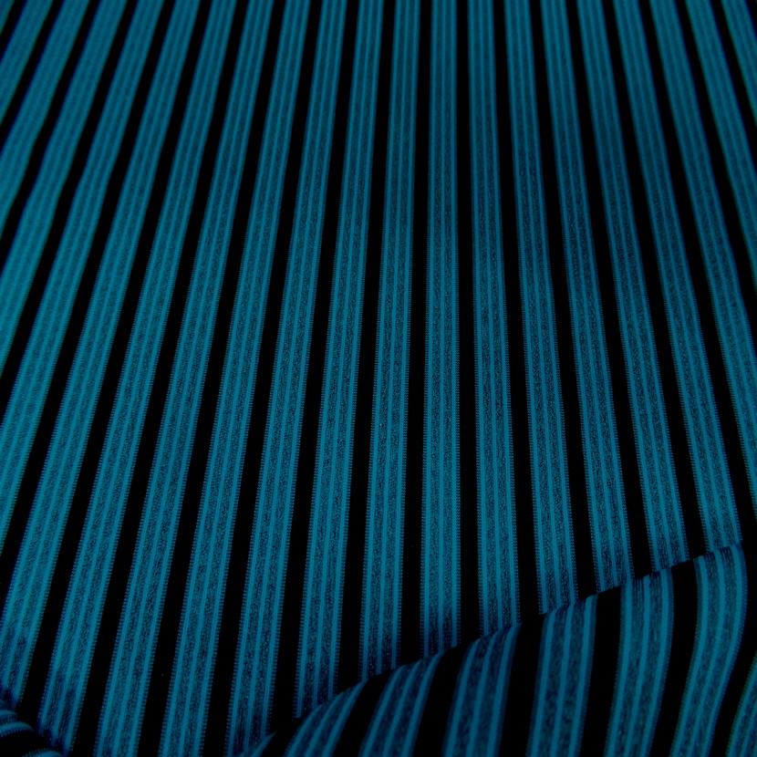 Lycra a rayures bleu et noir0