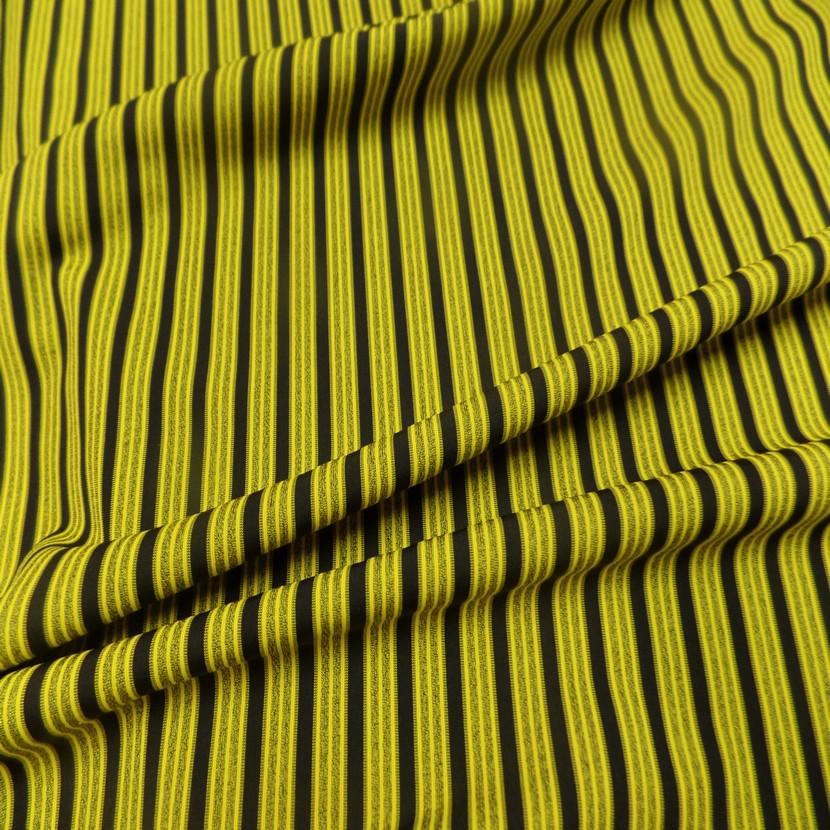 Lycra a rayures jaune et noir 1