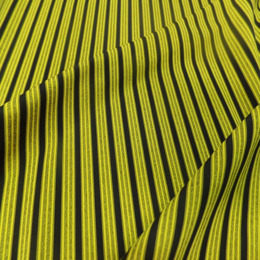 Lycra a rayures jaune et noir0