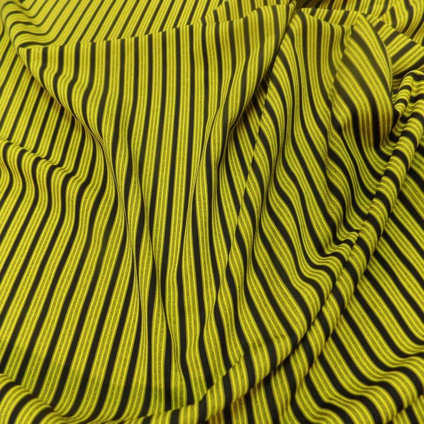 Lycra a rayures jaune et noir1