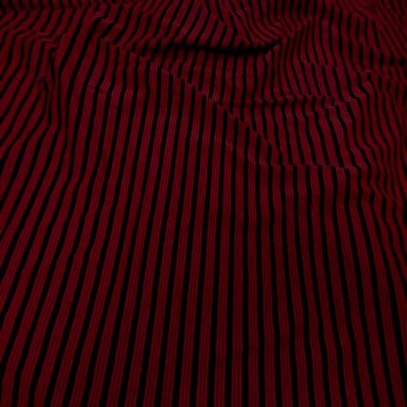 Lycra a rayures rouge noir3