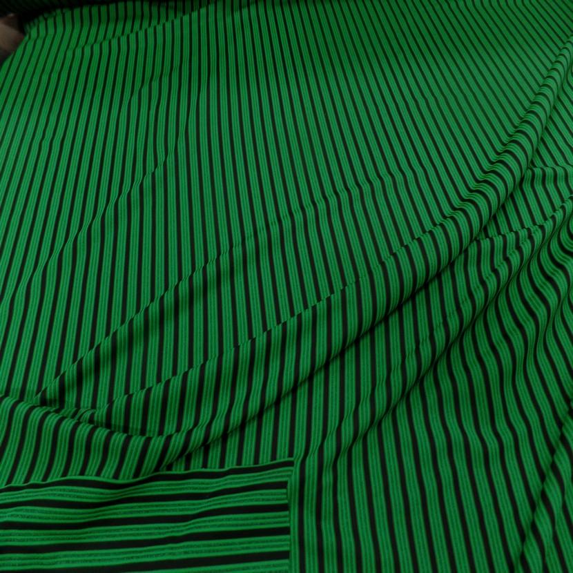 Lycra a rayures vert et noir