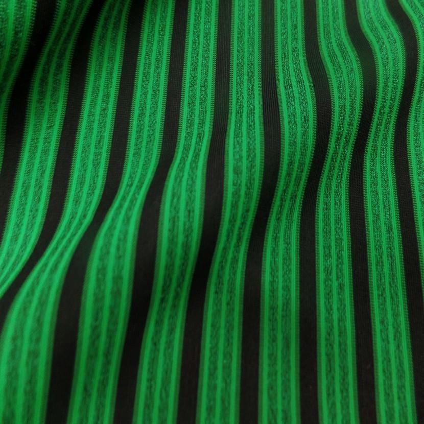Lycra a rayures vert et noir7