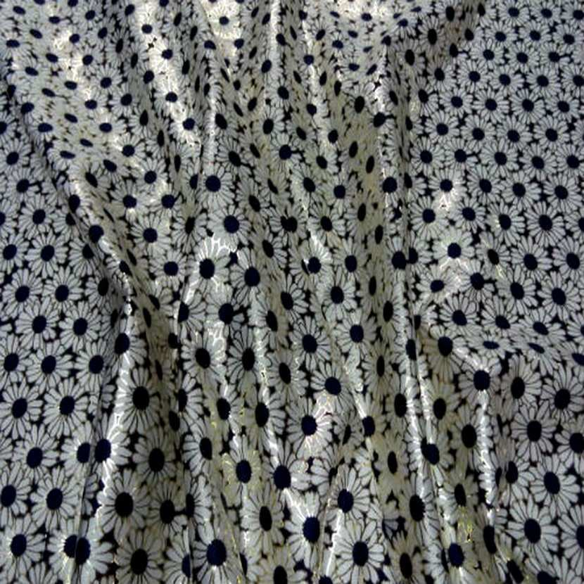 Lycra blanc bleu marine et lurex dore09
