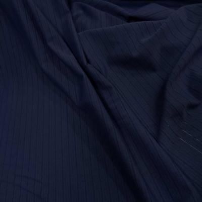 Lycra bleu marine a bandes perforee