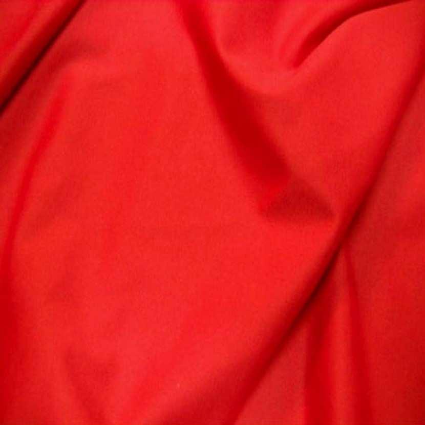 Lycra extensible dans le 2 sens rouge vermillon