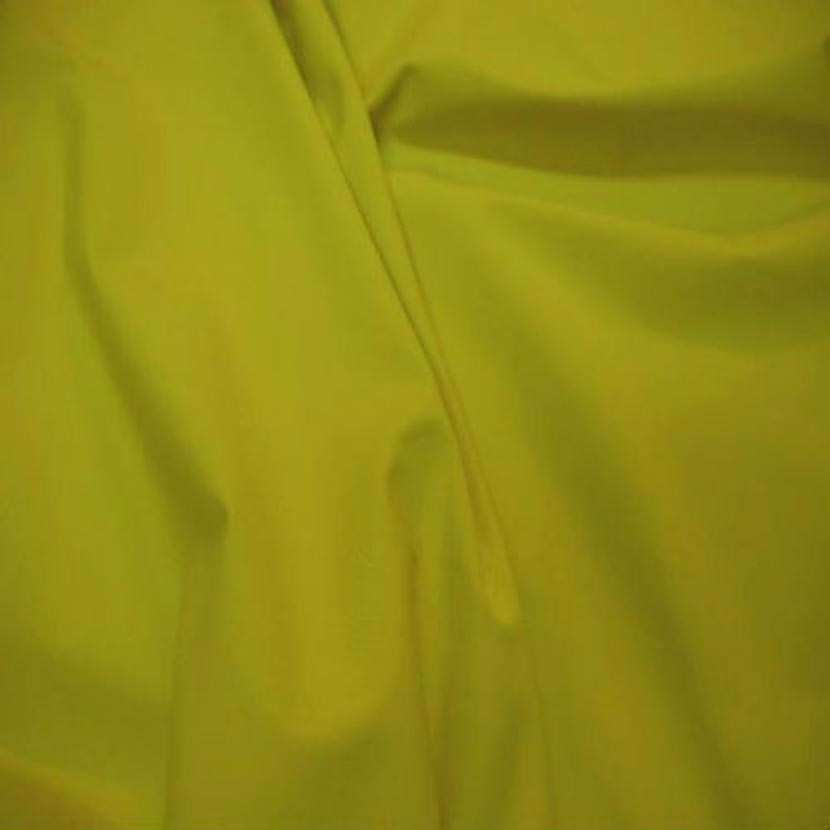 Lycra extensible dans le 2 sens ton vert jaune