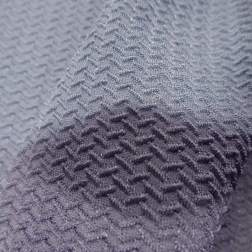 Lycra faconne gris aspect cote de maille7