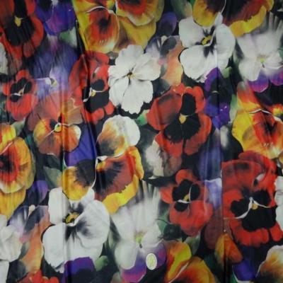 Lycra fin imprime fleurs