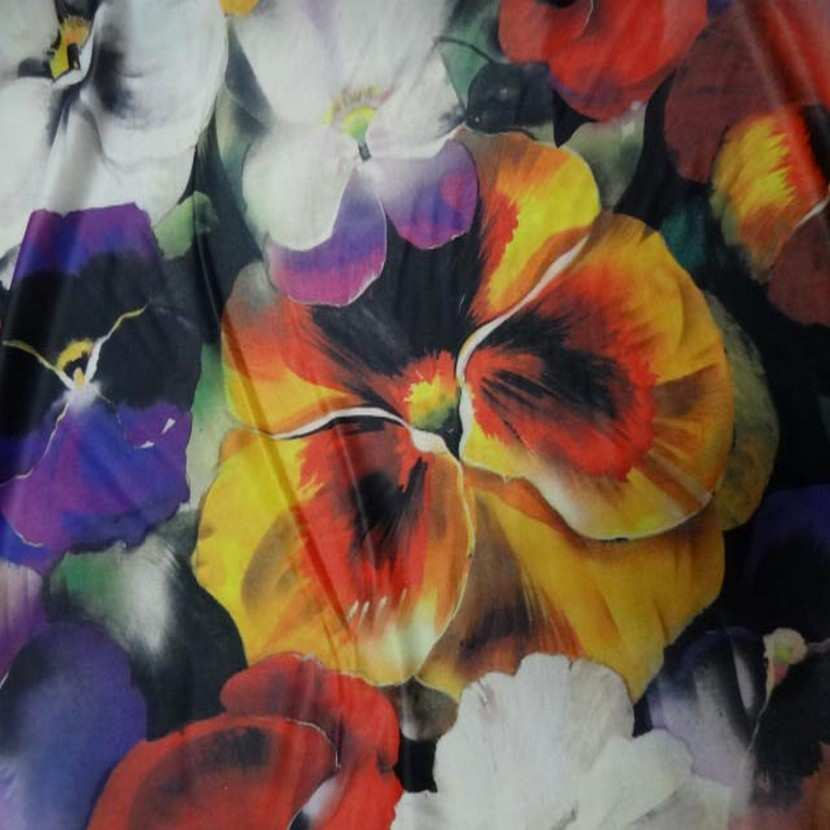 Lycra fin imprime fleurs8