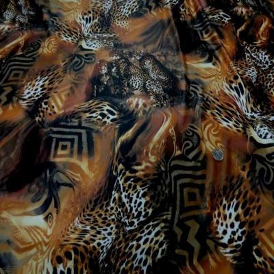 Lycra fin imprime leopard