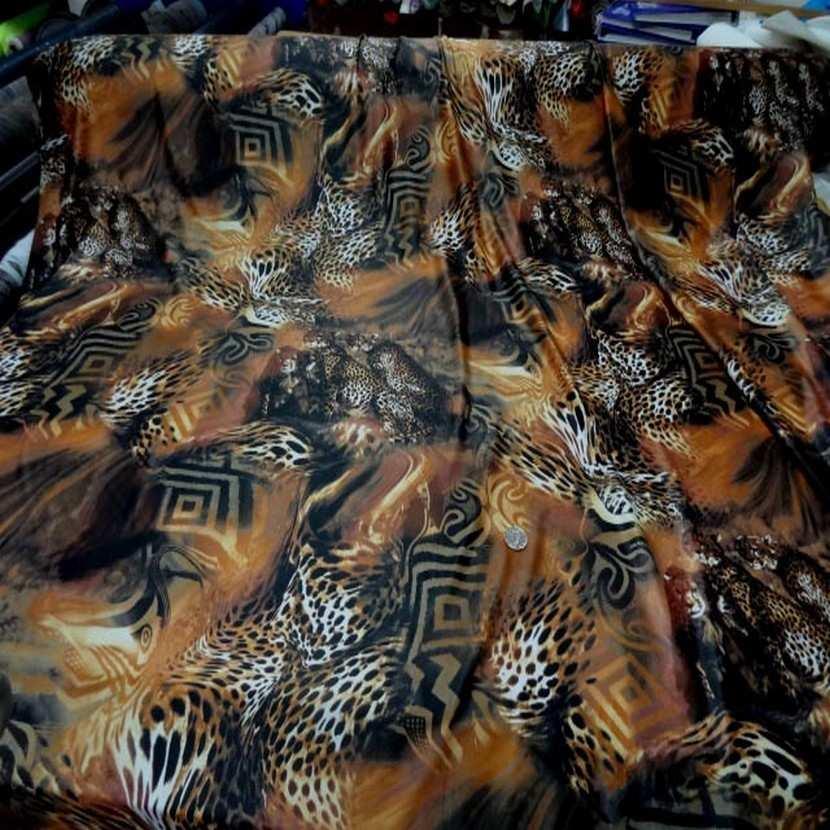 Lycra fin imprime leopard0