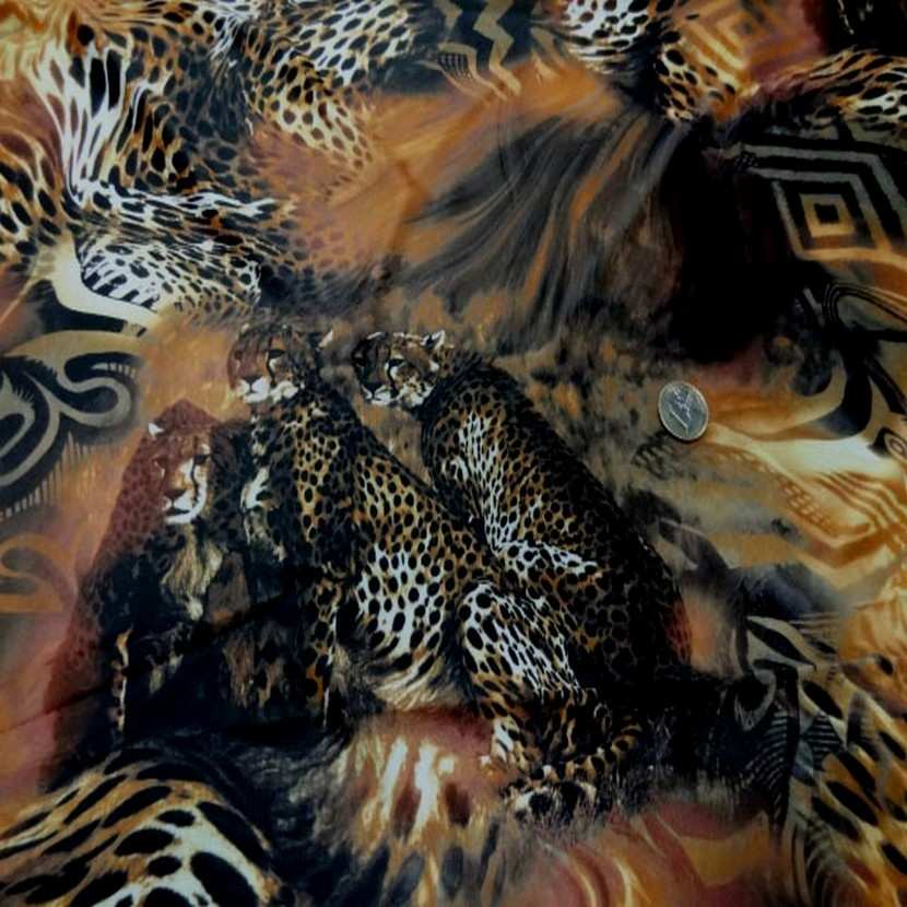 Lycra fin imprime leopard4