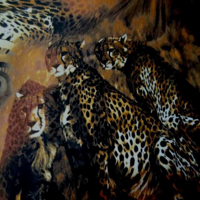 Lycra fin imprime leopard8