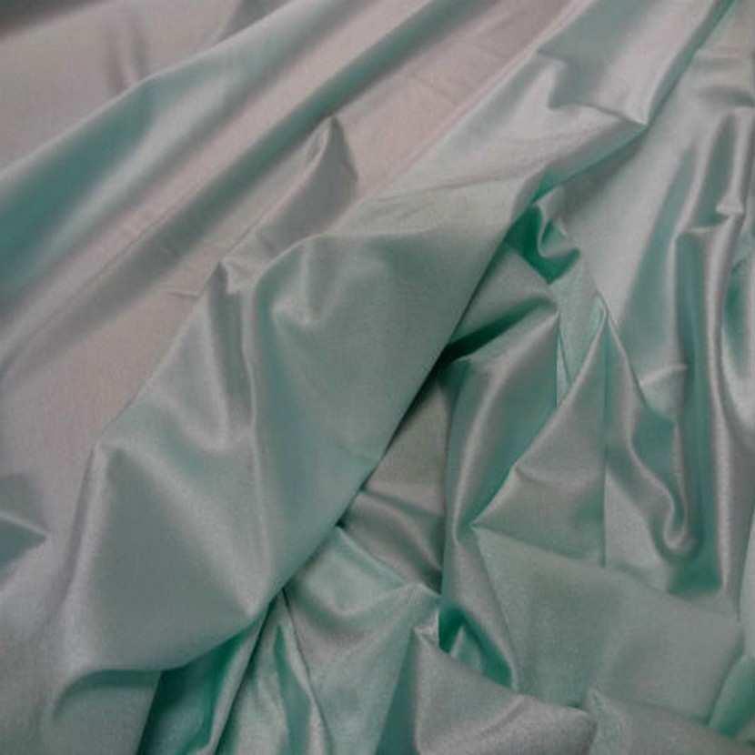 Lycra fin satine bleu vert