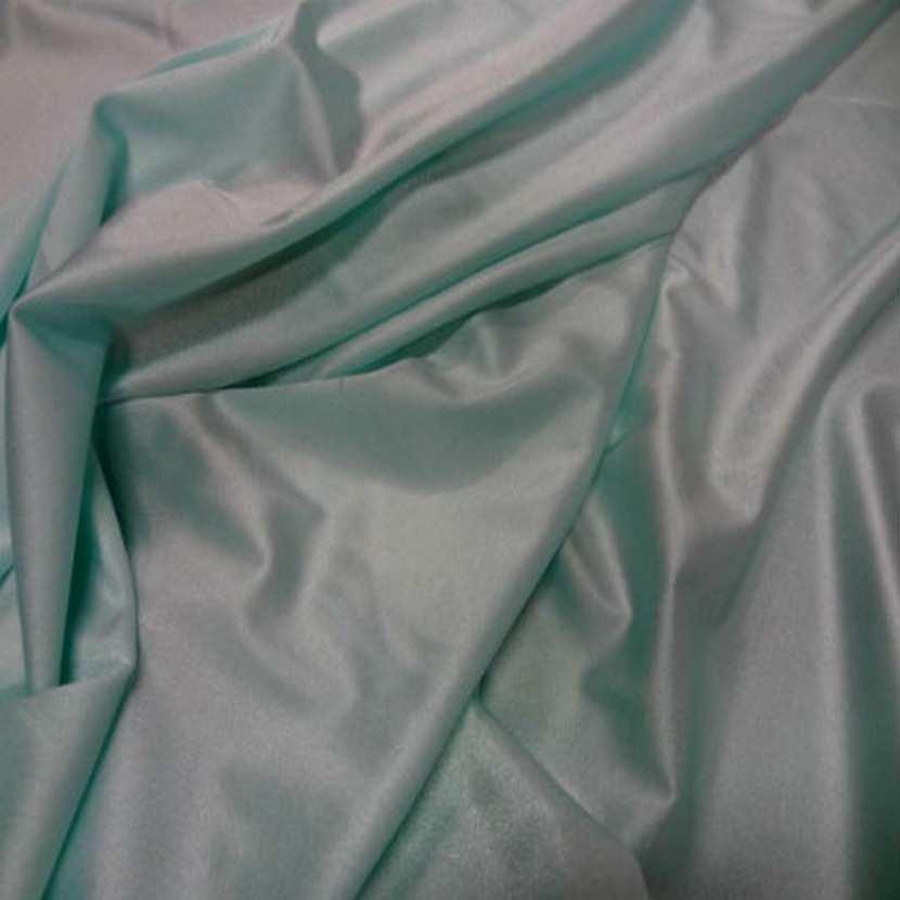 Lycra fin satine bleu vert2