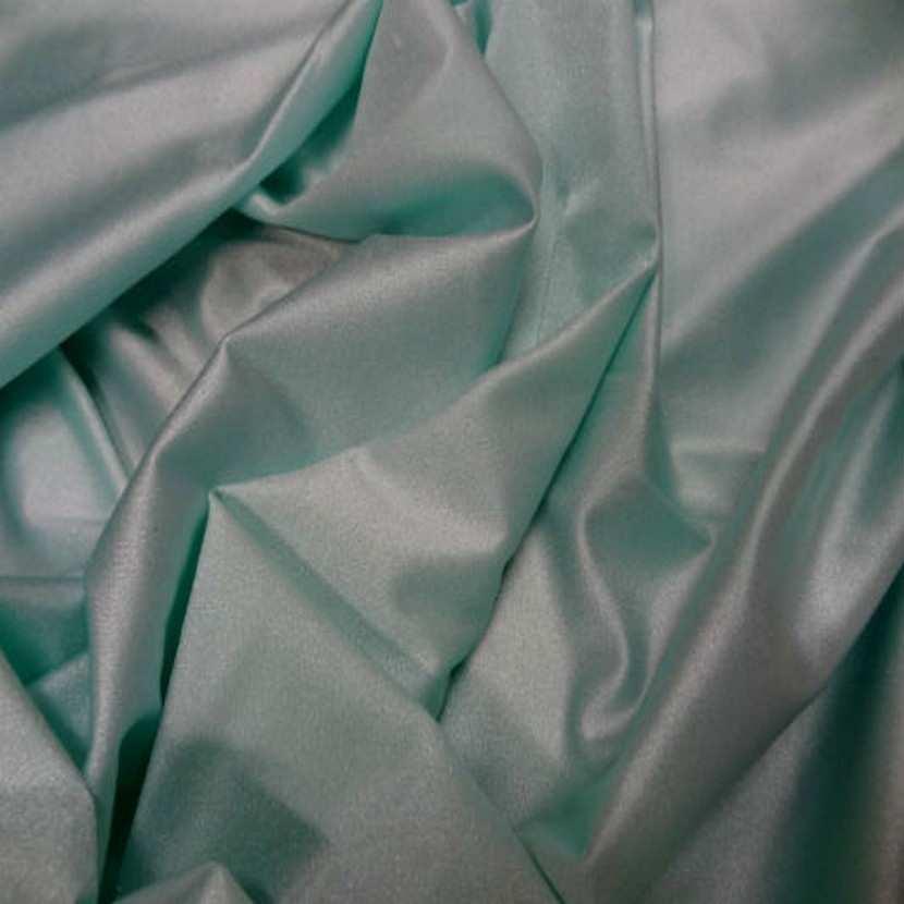 Lycra fin satine bleu vert6