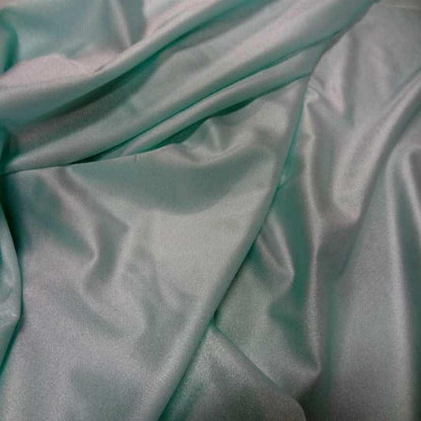 Lycra fin satine bleu vert9