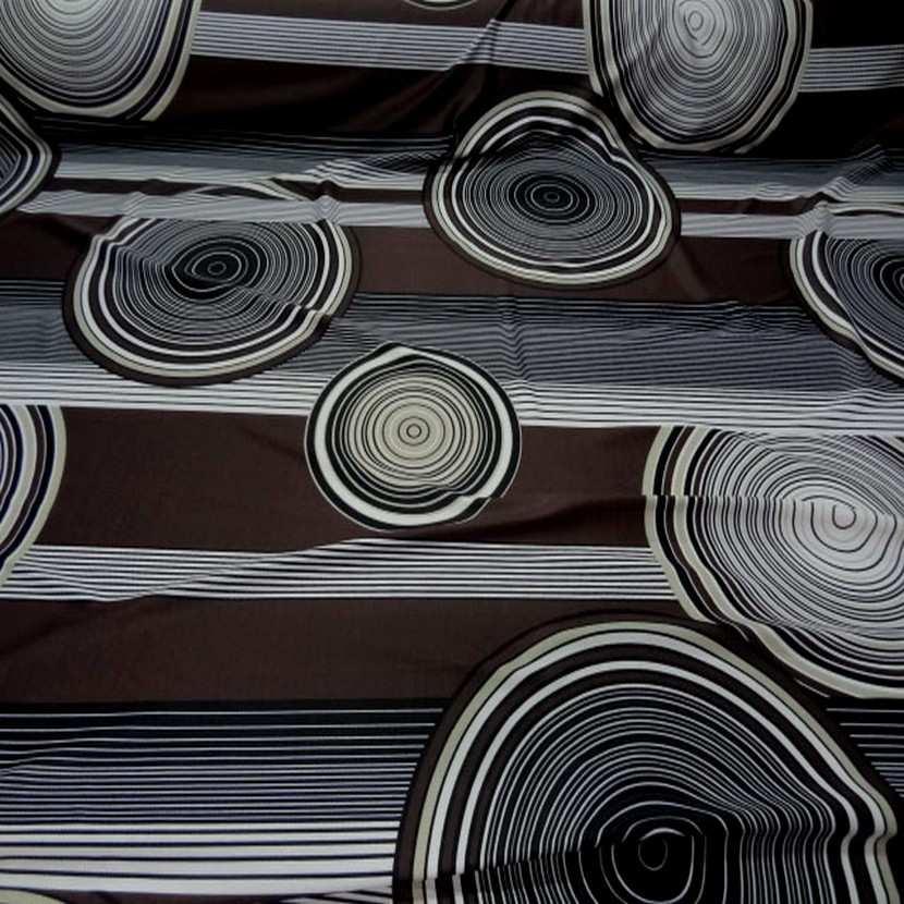 Lycra imprime annee 70 ton marron blanc7
