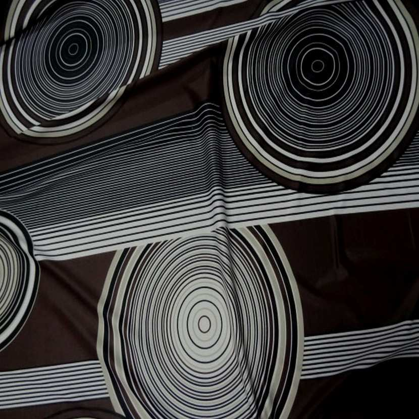Lycra imprime annee 70 ton marron blanc8