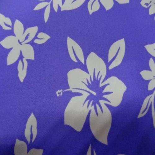 Lycra qualite maillot de bain blanc imprime fleurs hawaïenne