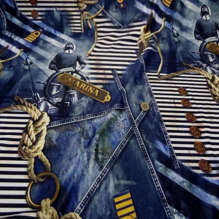 Lycra qualite qualite maillot de bain imprime bleu jean marine0