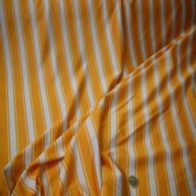 Lycra raye blanc orange
