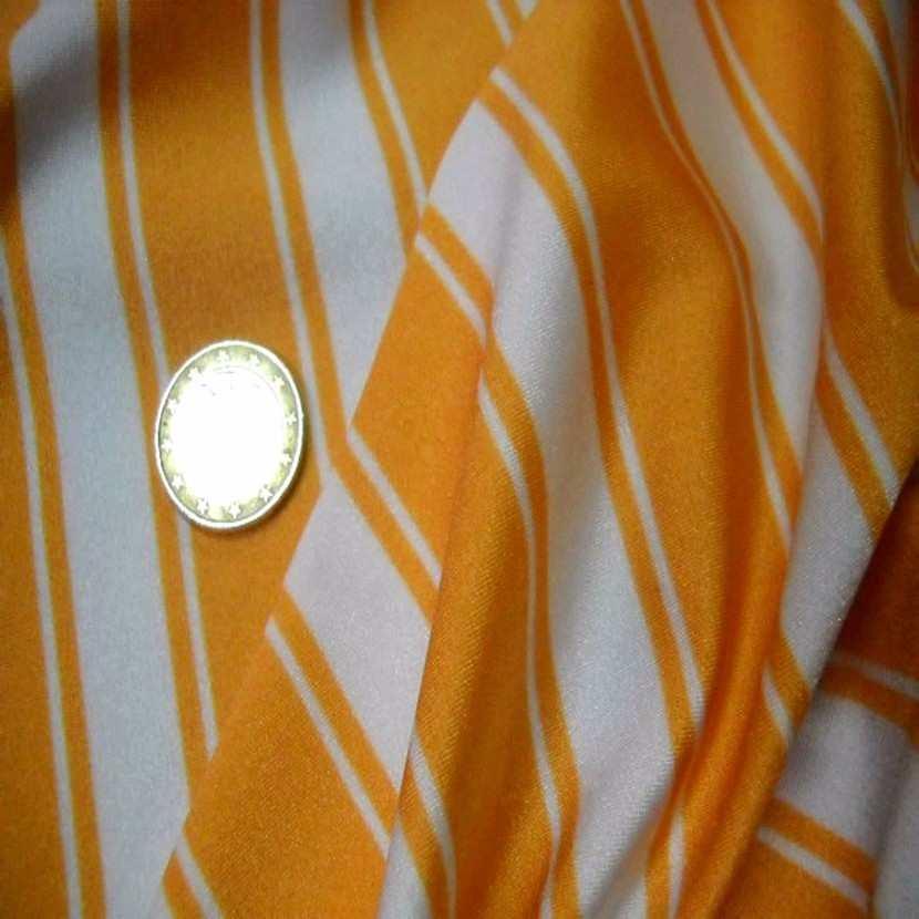 Lycra raye blanc orange5