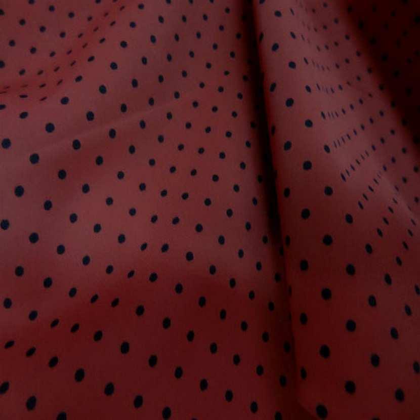 Lycra rouge bordeaux imprime pois6
