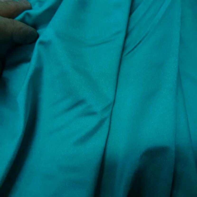 Lycra satine bleu jade0
