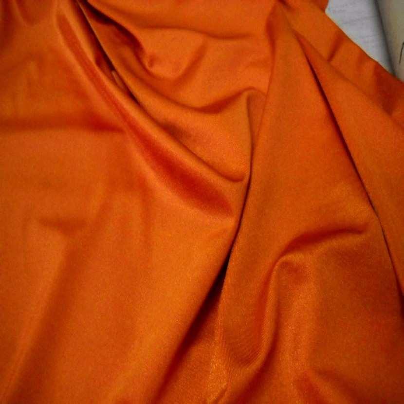 Lycra satine ton orange