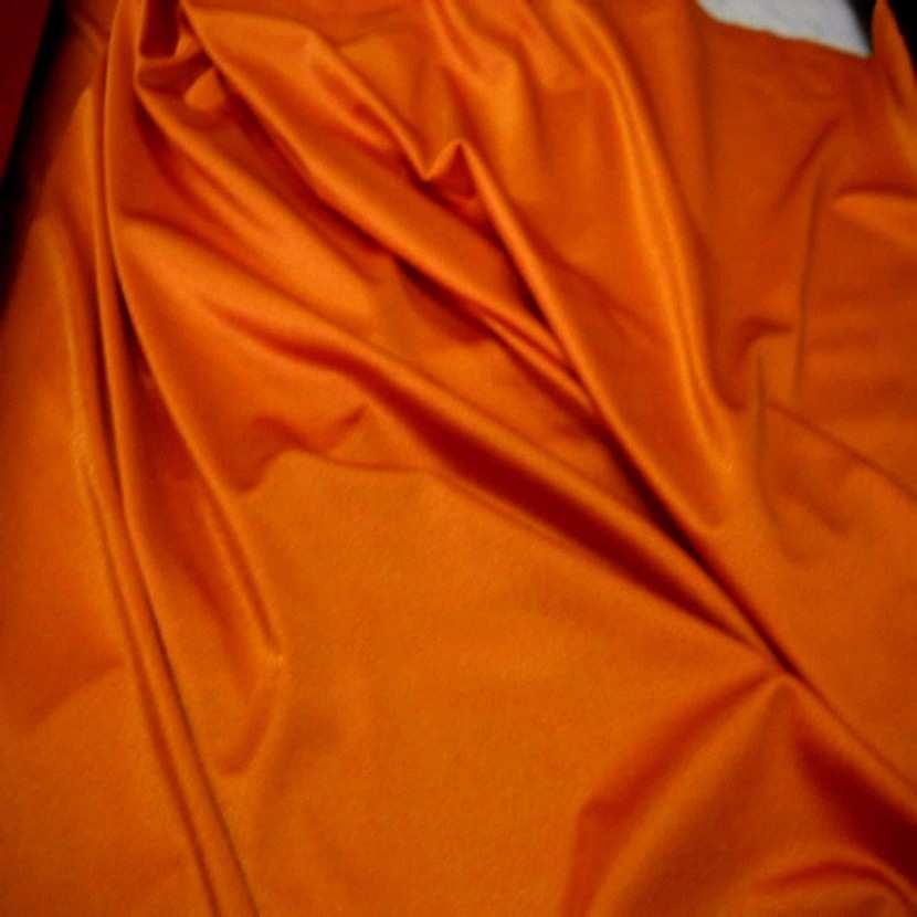 Lycra satine ton orange6