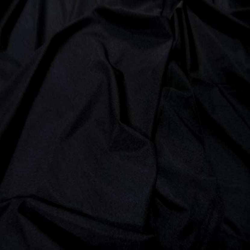 Lycra satine tres fin noir en 1 60m de large0