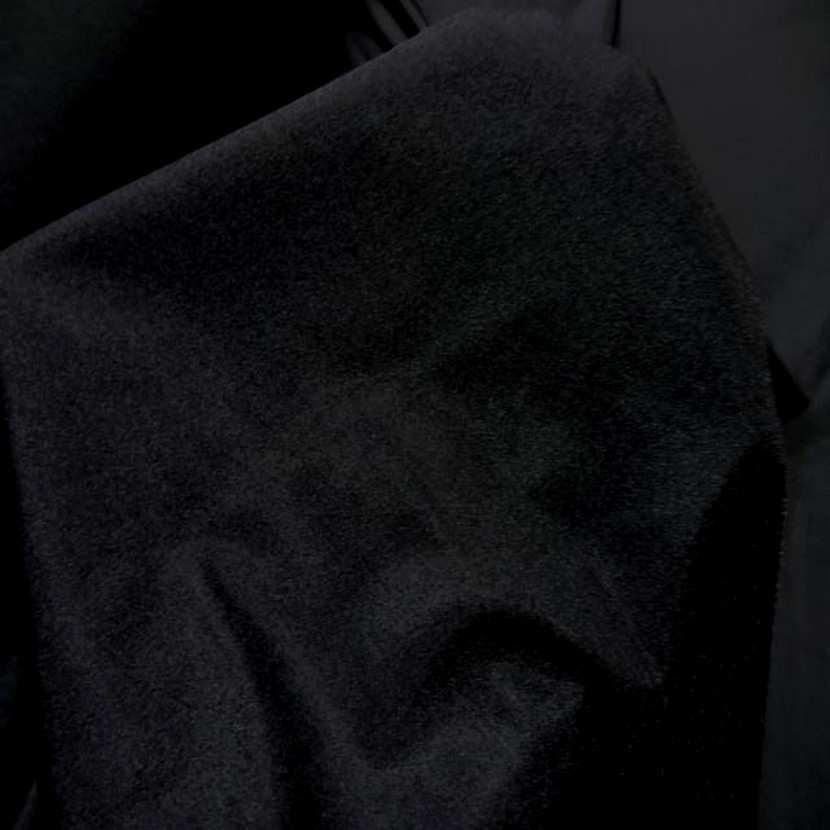 Lycra satine tres fin noir en 1 60m de large3