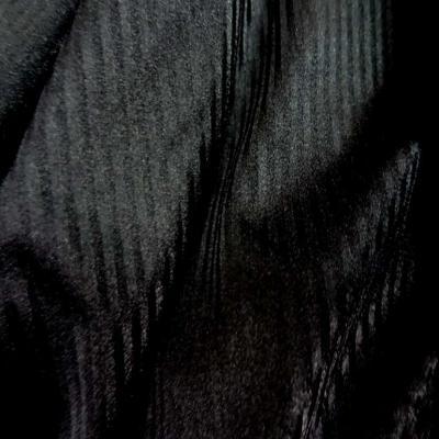 Lycra tres fin noir a rayures en 1 60m l