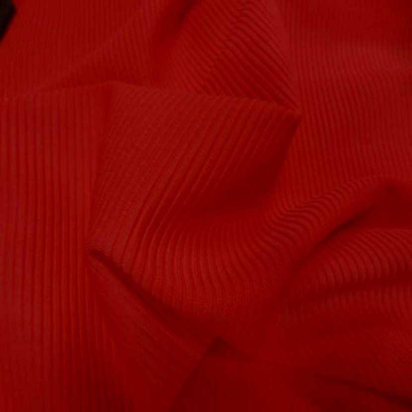 Lycra uni a cotes rouge vermillon5