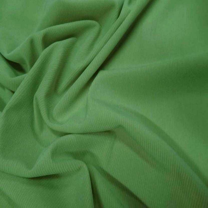Lycra uni brillant a cotes vert clair4