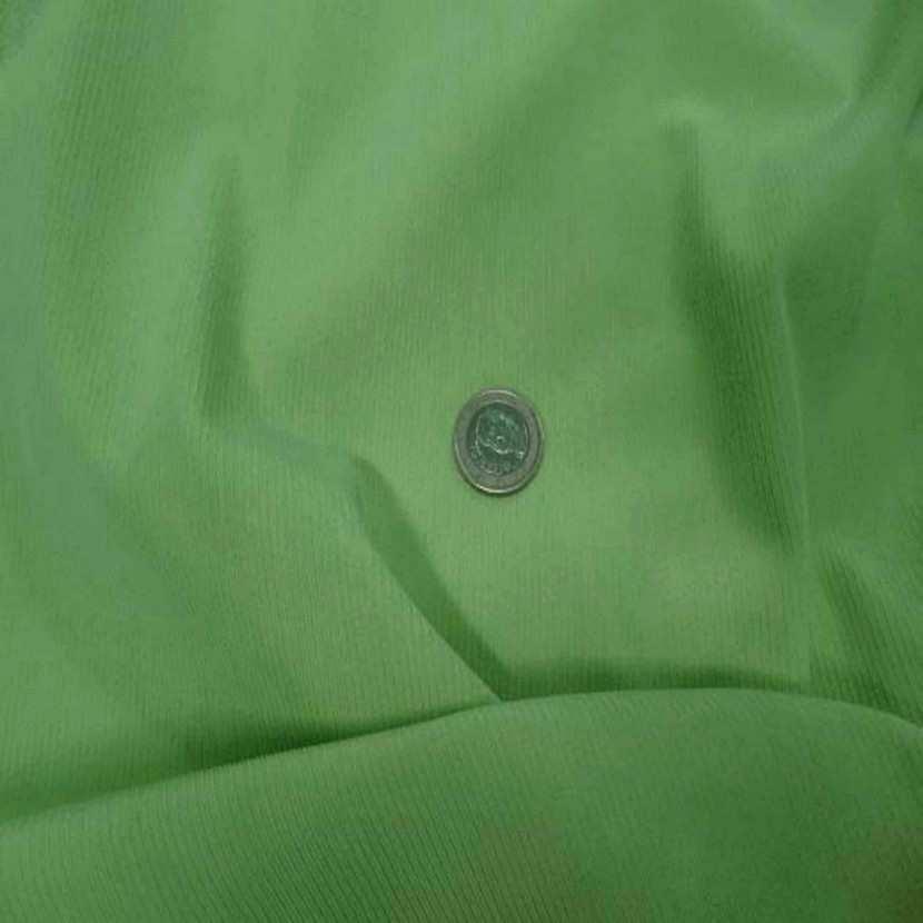 Lycra uni brillant a cotes vert clair7