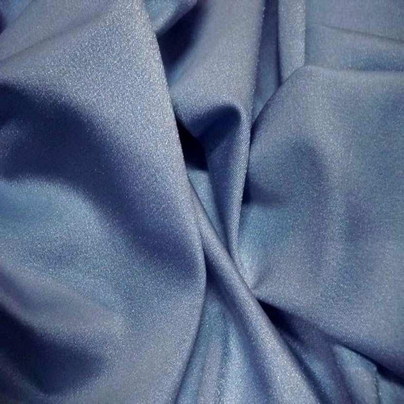 Lycra uni satine gris bleu