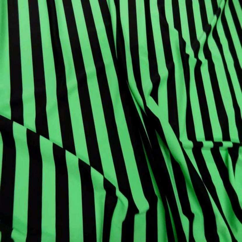 Lycra vert a rayures noire8